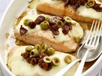 Baked Salmon with Olives recipe