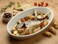 Baked Sea Bream with Vegetables recipe