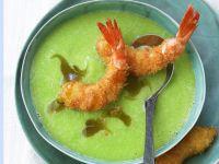 Baked Shrimp with Cucumber Wasabi recipe
