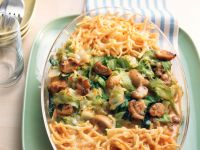Baked Spaetzle with Cabbage and Mushrooms recipe