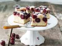 Baked Stone Fruit Squares recipe