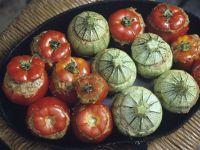 Baked Stuffed Tomatoes and Zucchini recipe