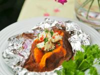 Grilled Sweet Potatoes with Chile-butter recipe