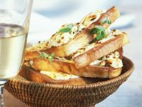 Baked Toast with Feta Cheese recipe