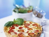 Baked Tomato and Basil Pie recipe