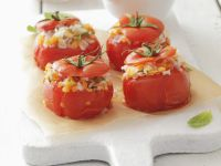Baked Tomatoes Stuffed with Rice and Lentils recipe