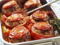 Baked Tomatoes with Beef Filling recipe