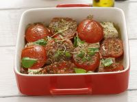 Baked Tomatoes with Feta Cheese recipe