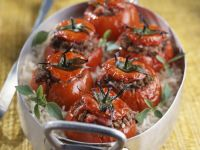 Baked Tomatoes with Mince recipe