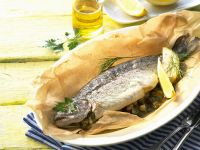 Baked Trout with Lemon recipe