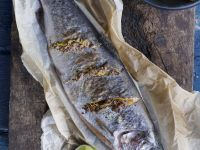 Baked Trout with Mustard and Orange Zest recipe