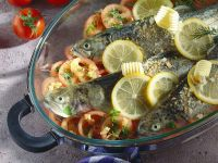 Baked Trout with Tomatoes recipe