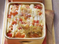 Baked White Asparagus Lasagne recipe