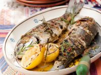 Baked Whole Fish with Citrus Fruit recipe