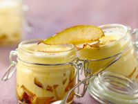 Baked Zabaglione with Pears recipe
