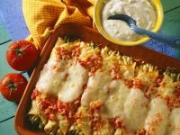 Baked Zucchini and Cheese Enchiladas recipe