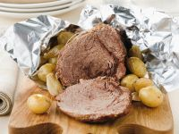 Balsamic Roast Beef with Potatoes and Onions recipe