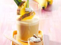 Banana and Coconut Shake with Pineapple recipe