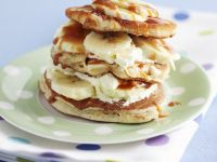 Banana and Toffee Breakfast Stack recipe