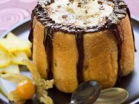 Banana Charlottes with Chocolate Sauce recipe