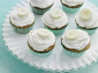 Banana Cupcakes with Whipped Cream recipe