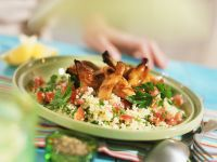 Barbecue Chicken with Herbed Couscous recipe