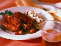 Barbecue Spare Ribs with Coleslaw recipe
