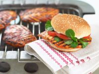 Barbecued Chicken Burgers recipe