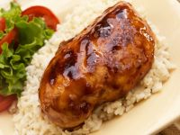 Barbecued Chicken on White Rice recipe