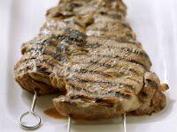 Barbecued Leg of Lamb on Skewers recipe