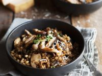 Pearl Barley Risotto with Mushrooms recipe