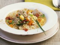 Barley Soup with Pork and Vegetables recipe