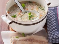 Barley Soup with Trout