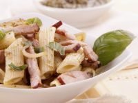 Basil and Pancetta Pasta recipe