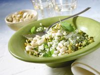 Basil Risotto with Pistachios and Cuttlefish recipe