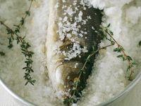 Bass in Salt Crust