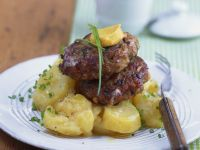 Bavarian Style Meatballs with Potato Salad recipe