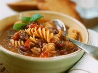 Bean and Fusilli Soup recipe