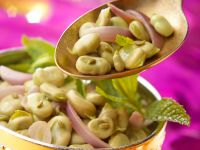 Bean Salad with Red Onions and Mint recipe
