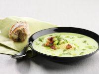 Bean Soup with Horseradish Cream and Pancetta recipe
