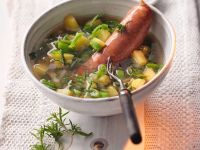 Bean Soup with Sausages recipe