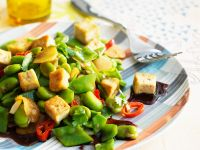 Beancurd with Beans and Peas recipe