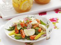 Beans and Carrot Salad with Mozzarella recipe