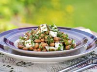 Beans with Fresh Goat Cheese recipe