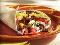 Beef and Bean Filled Tortillas recipe