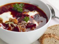 Beef and Beet Soup recipe