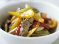 Beef and Mixed Pepper Fry recipe