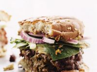 Beef and Olive Burgers recipe