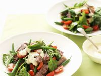 Beef and Tomato Salad with Green Beans recipe