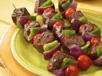 Beef and Vegetable Skewers recipe